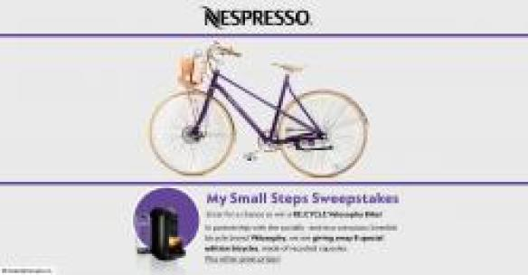 Nespresso My Small Steps Sweepstakes