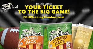 Frigo Cheese Heads Winning Combos Sweepstakes