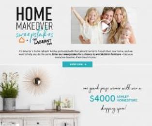 Ashley Homestore The Labrant Family Home Makeover Sweepstakes