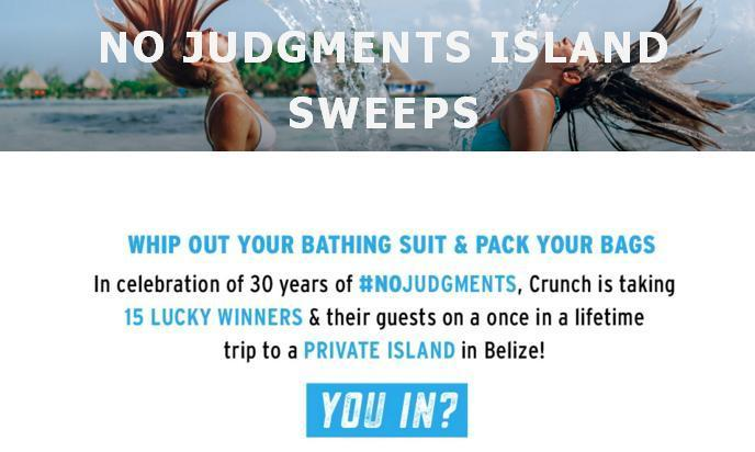 Crunch Fitness Island 2019 Sweepstakes – Win Trip To A Private Island