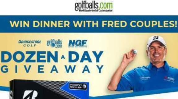 Golfballs Dozen-a-Day Giveaway Fred Couples Sweepstakes