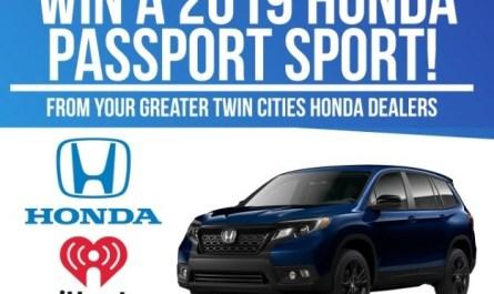 Greater Twin Cities Honda Dealers Car Giveaway – Win Passport Sport