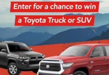 O' Reilly Toyota Truck or SUV Giveaway