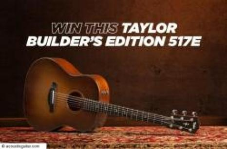 Acoustic Guitar Taylor Builders Edition 517e sweepstakes