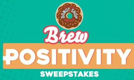Donut Shop Coffee Pouring Positivity Sweepstakes