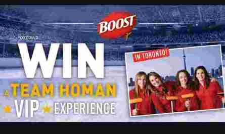 Made With Nestle BOOST Team Homan VIP Experience Contest