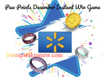 Paw Points December Instant Win Game