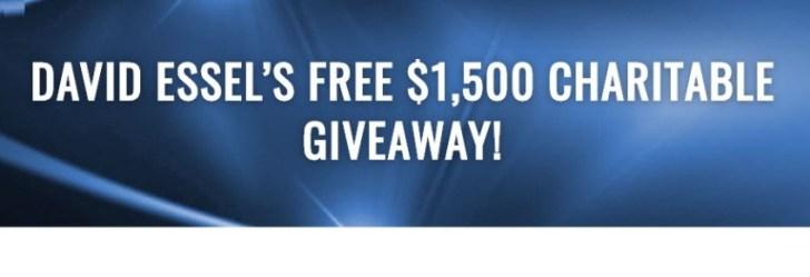 David Essels Free $1500 Charitable Giveaway
