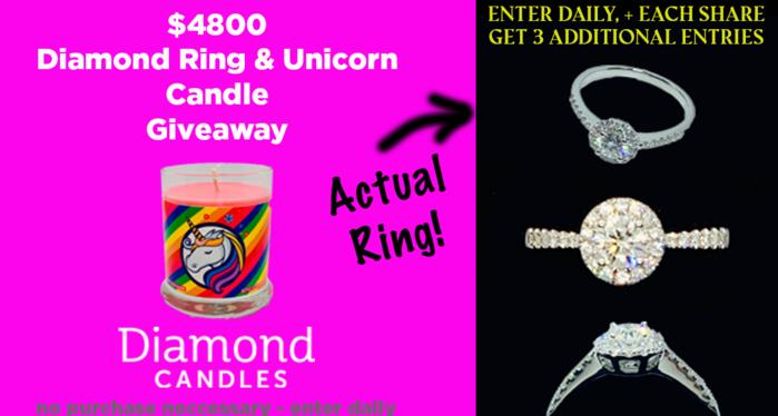 Diamond Candles $4800 Ring Giveaway