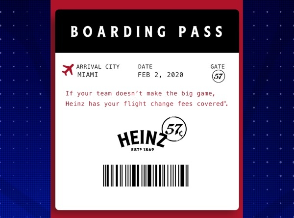 Heinz 57 Flight Change Promotion Sweepstakes