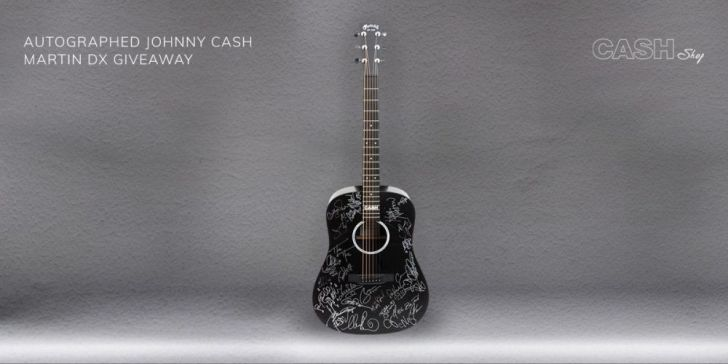 Johnny Cash Autographed Martin DX Giveaway