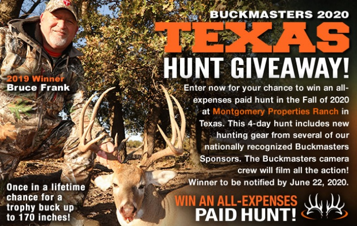 Buckmasters 2020 Texas Hunt Giveaway