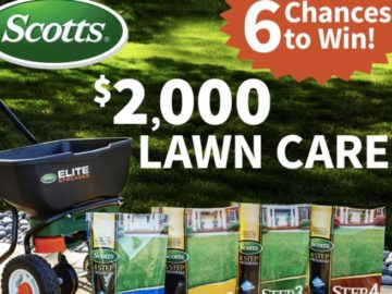 $2000 Scotts Lawn Care Giveaway