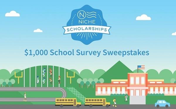 Niche $1000 School Survey Scholarship Sweepstakes