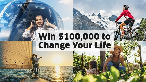 Omaze $100k Sweepstakes