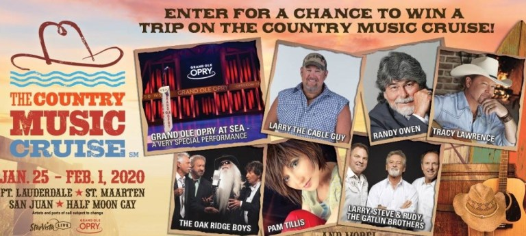 Grand Ole Opry Country Music Cruise Sweepstakes – Win Cruise