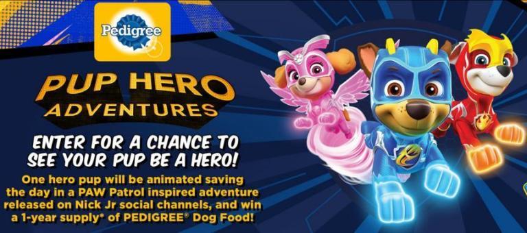 Viacom Pup Hero Adventures Contest – Win PEDIGREE Coupons