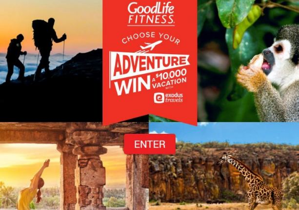 GoodLife Fitness Choose Your Adventure Contest - Win Trip