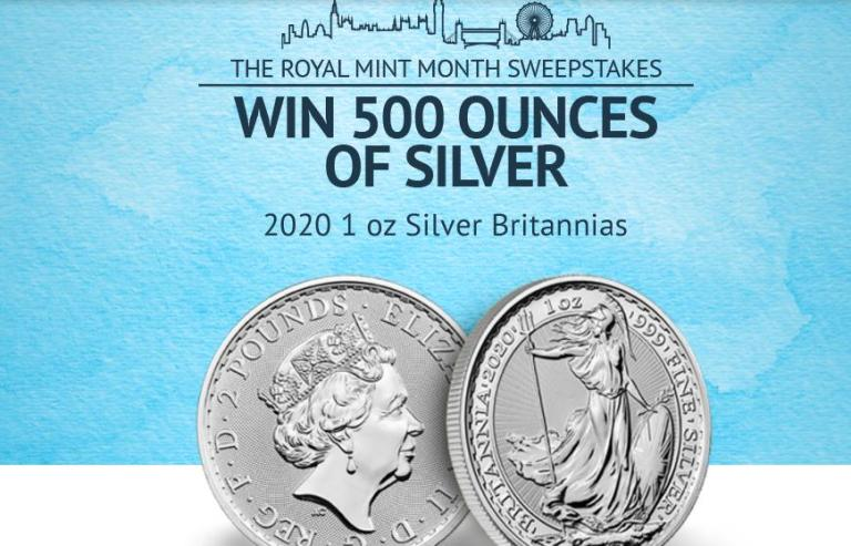 APMEX And Royal Mint Month Sweepstakes – Win Cash Prizes