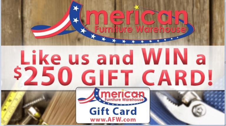 American Furniture Warehouse Giveaway – Win Gift Card