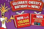 Cheestrings Celebrate Cheesys Birthday Contest - Win Cash Prizes