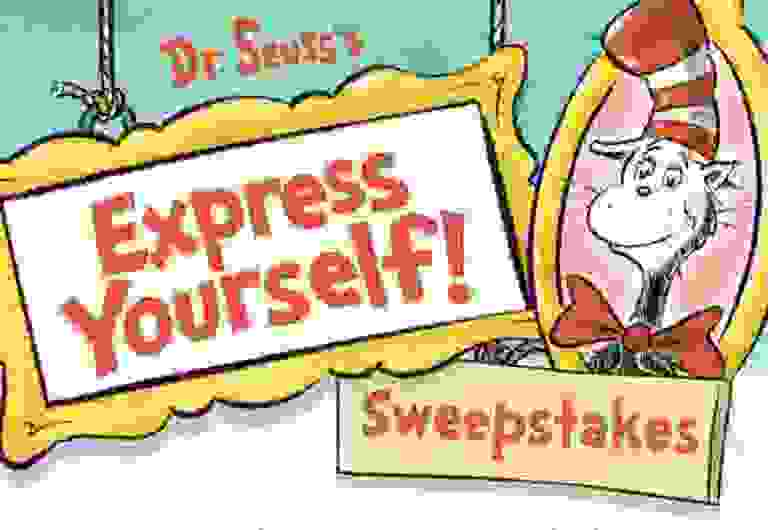 Dr. Seuss Express Yourself Sweepstakes - Win Prize