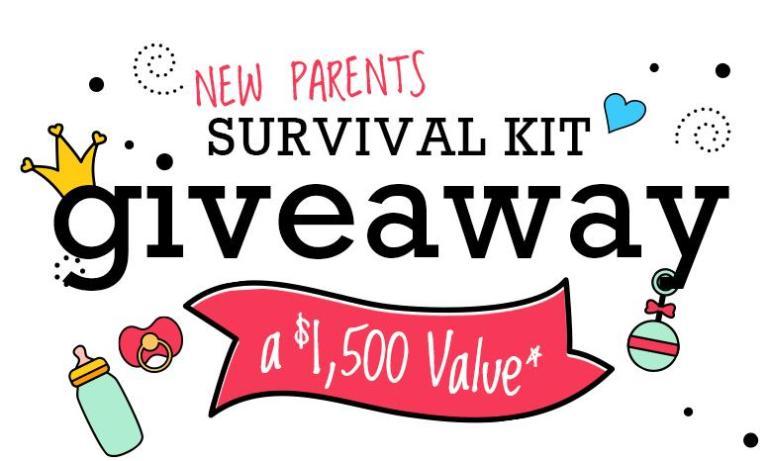 New Parent Survival Kit Giveaway – Win Cash Prizes