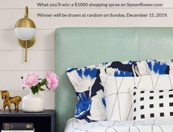 Spoonflower Serger Giveaway - Win Cash Prizes