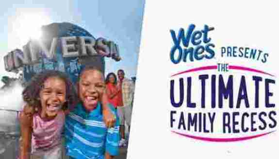Wet Ones Ultimate Family Recess Sweepstakes - Win Tickets