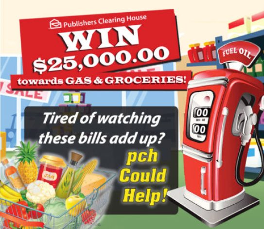 PCH.Com $25000 Gas Groceries Giveaway