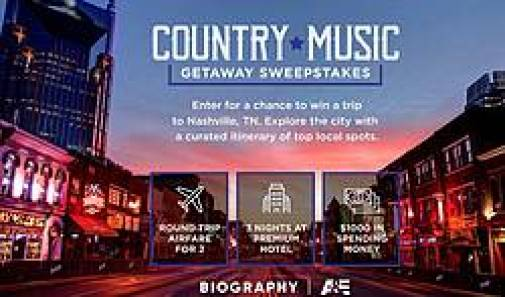A&E Country Music Getaway Sweepstakes - Win Trip