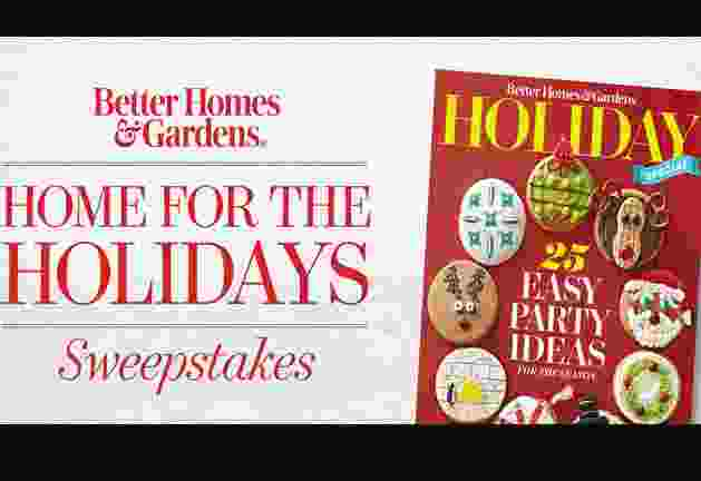 BH&G Home for The Holidays Sweepstakes - Win Gift Card