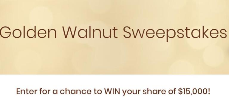 California Walnut Golden Walnut Sweepstakes – Win Check