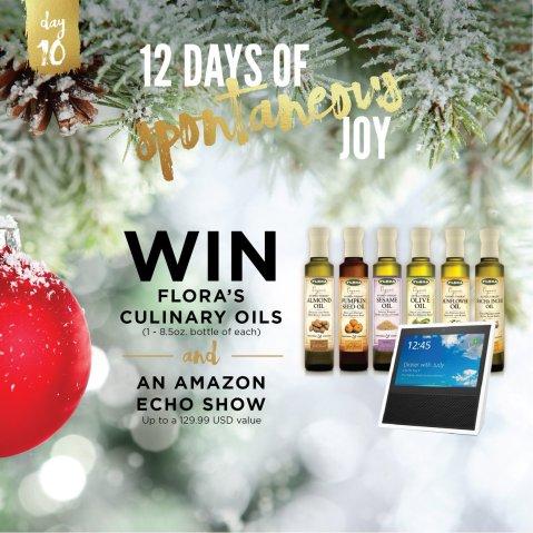 Flora 12 Days of Spontaneous JOY Sweepstakes - Win Gift Card
