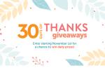 HGTV Magazine 30 Days of Thanks Sweepstakes - Win Cash Prizes