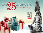 Zens 25 Days Of Giving Sweepstakes - Win Prize