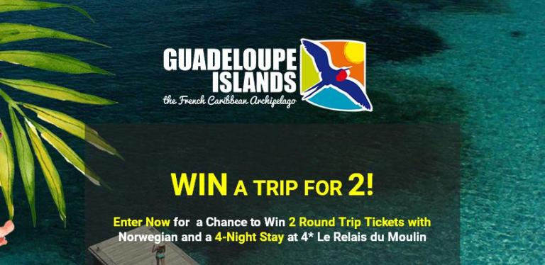 Guadeloupe Islands Tourist Board Guadeloupe Sweepstakes - Win Tickets