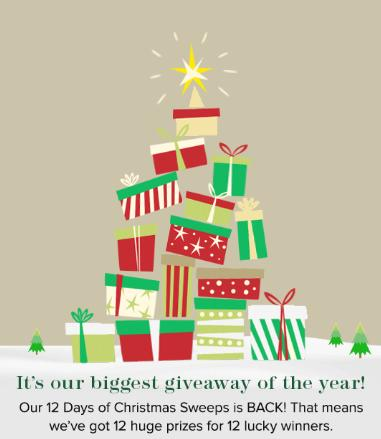 MyRegistry 12 Days Of Christmas Sweepstakes - Win Gift Card