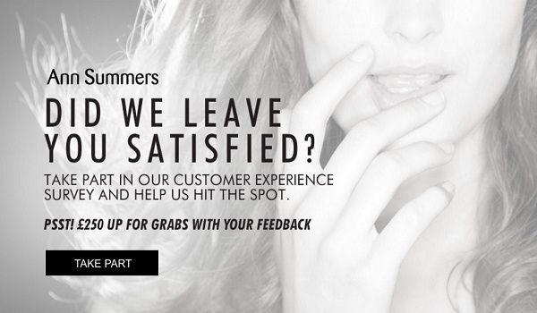 Ann Summers Customer Survey Contest - Win Gift Card
