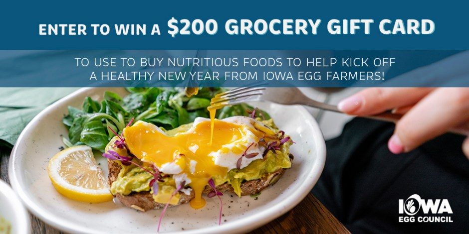 Iowa Egg Council Gift Card Giveaway - Win Gift Card