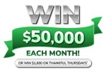 Green Dot $50K Giving Thanks Sweepstakes - Win Cash Prizes