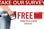Petro Canada Hero Survey Contest - Win Gift Card