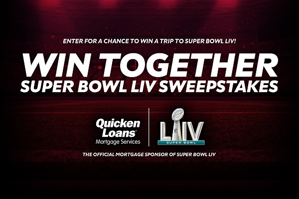 Quicken Loans Super Bowl LIV Sweepstakes - Win Gift Card