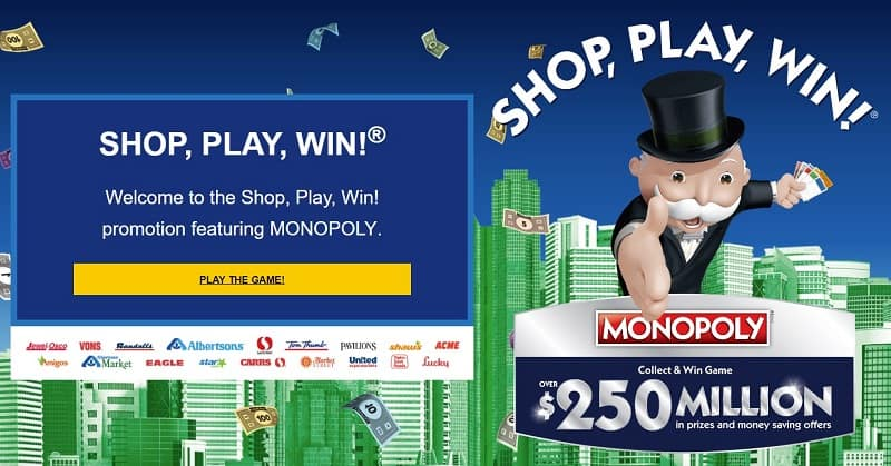 Shop Play Win Safeway Monopoly Sweepstakes