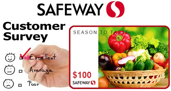 Safeway Customer Survey Sweepstakes - Win Gift Card