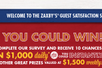 Tell Zaxbys Feedback Survey Sweepstakes - Win Cash Prizes