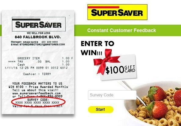 Super Saver Feedback Survey - Win Gift Card