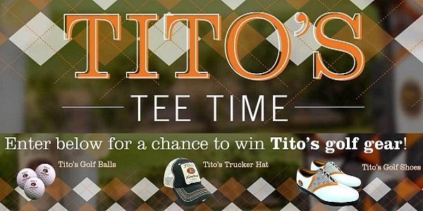 Titos Tee Time Golf Survey Sweepstakes - Win Prize