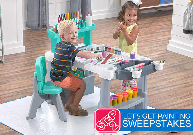 Step 2 Deluxe Creative Projects Art Desk Giveaway