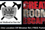 Axe Throw San Diego Or Great Room Escape Sweepstakes